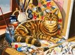 Rustende kat Nieuw
