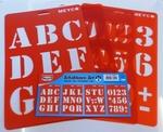 Letter-cijfersjabloon NIEUW