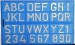 Letter-cijfers sjabloon
