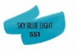 Hemelsblauw licht 551