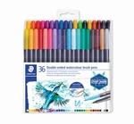 Viltstiften dubbel punt 36 kleuren