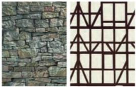 Vario kartin steen vakwerk motief