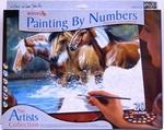Paarden in de rivier